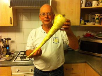 Steve and his parsnip.