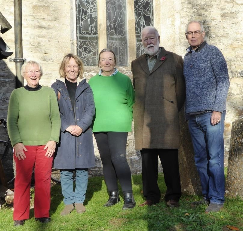 L-R, Heather, Evadne, Anne, Chris and Richard. The fledgeling band emerging into the sunshine!