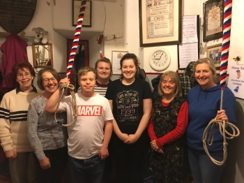 The Band:- Jill Barron, Melanie Atkinson (proud mum), Matthew Atkinson, Elizabeth Thompson (Mentor this evening), Rachel Bean, Niki Springford, Sonia Thompson