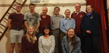 Back (left to right) - Bradley, Simon, Maurice, Peter, Jim, Ian, Vicki