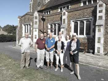 The peal band outside St Richard's Aldwick