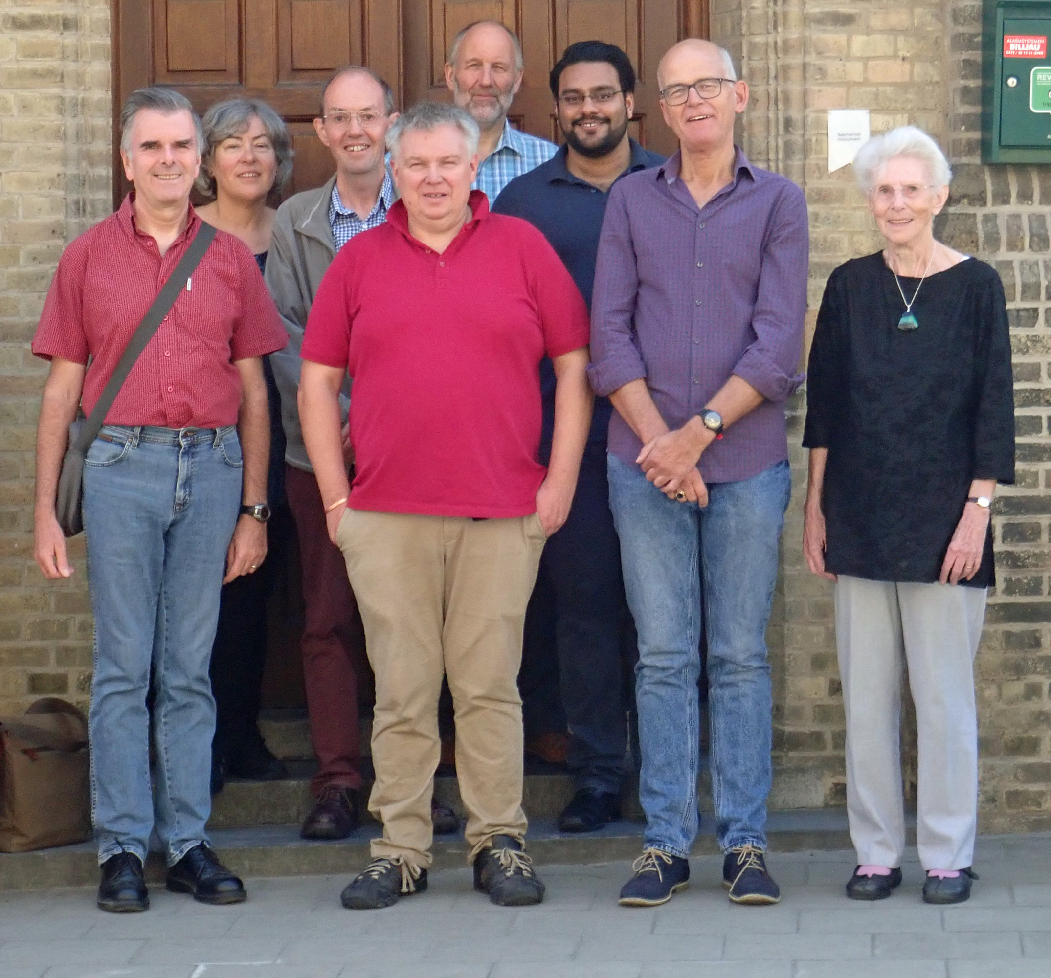 L-R, Keith, Debbie, Tim, Colin, Stephen, Rakhal, Alec and Margaret