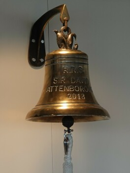 "The Ship's Bell, cast in brass by Castle Fine Arts, Liverpool (12"" diameter)"